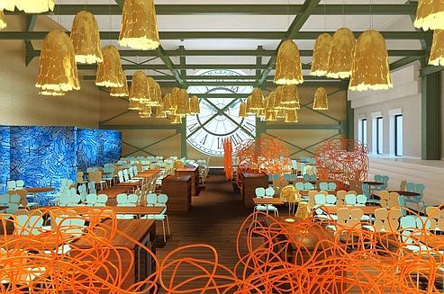 Café de l'horloge, Musée d'Orsay, design Fernando & Humberto Campana