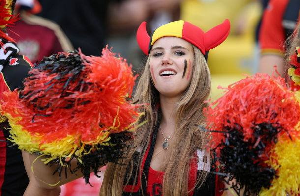 Axelle, supportrice belge devenue célèbre durant la Coupe du monde