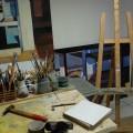 Dans l'atelier de Cornélia Komili, mai 2014