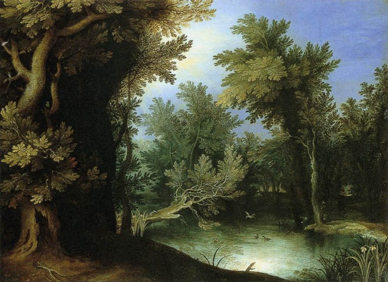 Landscape with a Marsh by Paul Bril (1590)