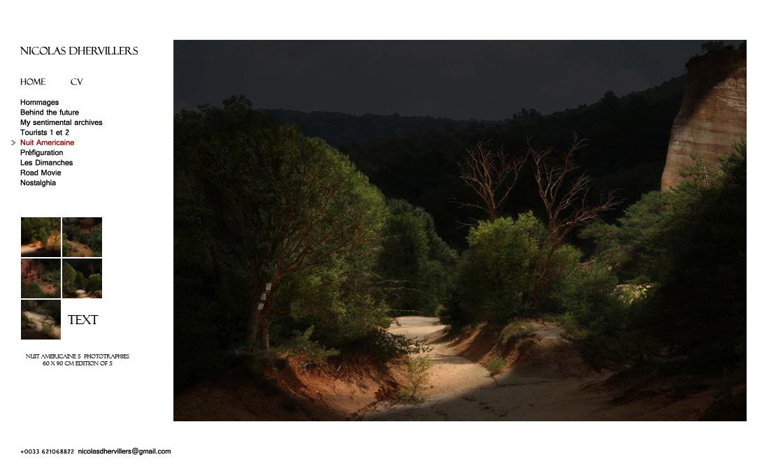Nicolas Dhervillers, série Nuit Américaine