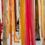 Cecilia Vicuña, Quipu Austral, 2012 - 2013 Collection 49 Nord 6 Est - Frac Lorraine, Metz (FR) Vue de l'exposition Les Immémoriales, printemps 2013, Frac Lorraine Photo : Eric Chenal © C. Vicuña