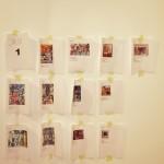 Au mur, descriptif des oeuvres qui figureront dans une pièce du musée