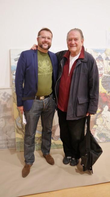 Un grand moment pour moi : la rencontre avec l'immense artiste islandais Erró quelques jours avant le début de la rétrospective consacrée à son oeuvre au MAC Lyon. - 3 octobre 2015 - 22 février 2015.