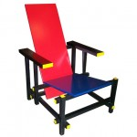 Gerrit Rietveld, Red and Blue chair, 1923