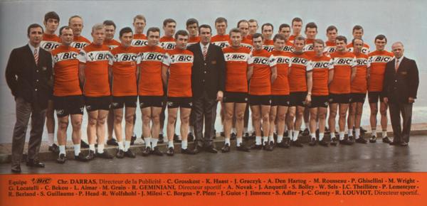 L'Equipe cycliste professionnelle Bic, en 1968