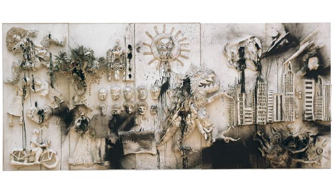 Niki de Saint Phalle, étude pour King Kong, Heads of State, 1962