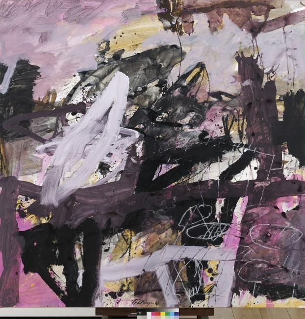 Thibaut de Reimpré, Sans titre, technique mixte sur papier marouflé sur toile, 150 x 150 cm, 2010