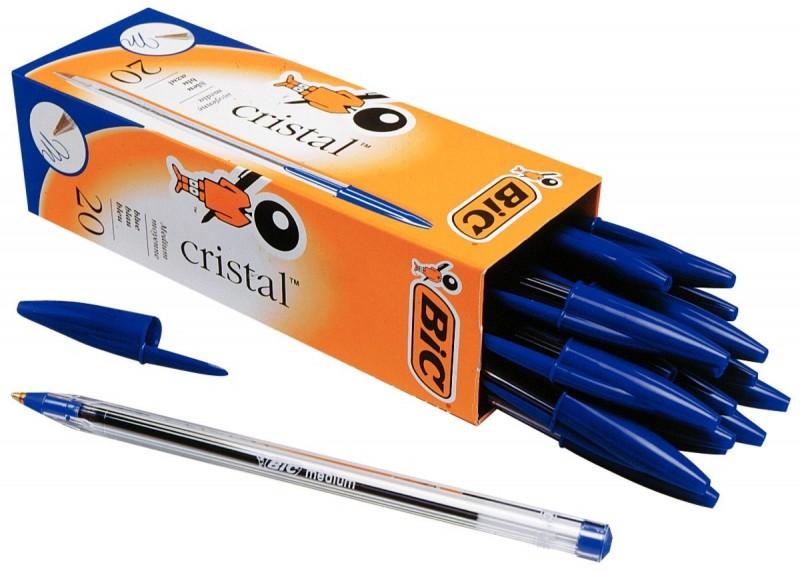 Une boîte de stylos à Billes Bic pointes fine