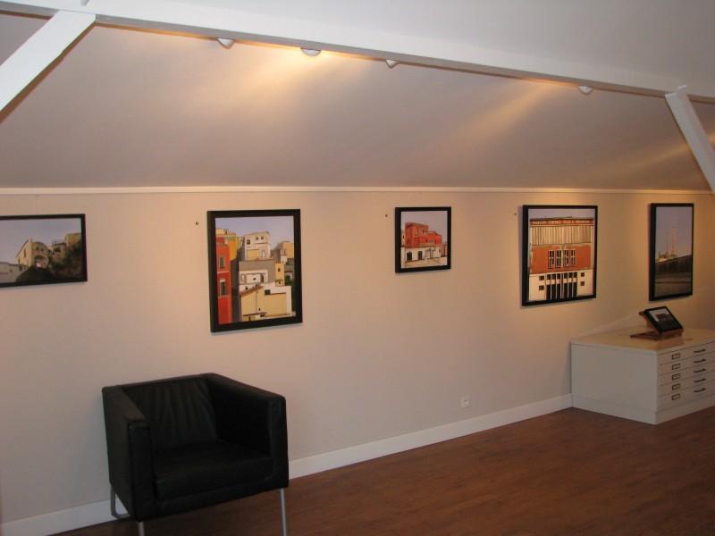 Vue de l'exposition Impressions napolitaines d'Arno Boueilh, Petite galerie du Domaine Perdu, 2008. Photo : Théo Lajoinie