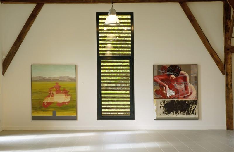 Vue de l'exposition Zone amère de Fabrice Thomasseau, 2008. Photo : Bernard Dupuy