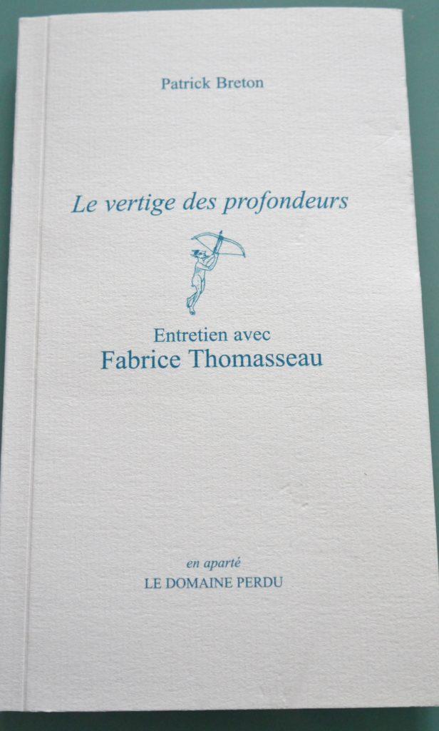 Le Vertige des Profondeurs, Entretien avec Fabrice Thomasseau, éditions Le Domaine Perdu
