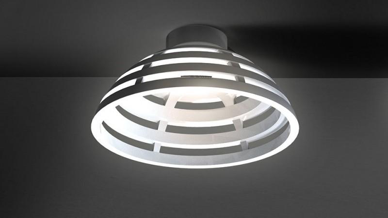 Plafonnier à LED carré INCIPIT, design Carlotta de Bevilacqua, éditeur Artemide