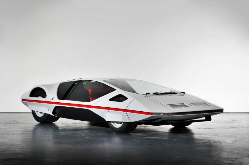 Ferrari Modulo, design Pininfarina. Peut-être le prototype le plus osé de l'histoire du carrossier italien !