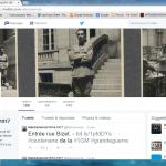 Capture d'écran du compte Twitter du Maréchal des logis Nissim de Camondo