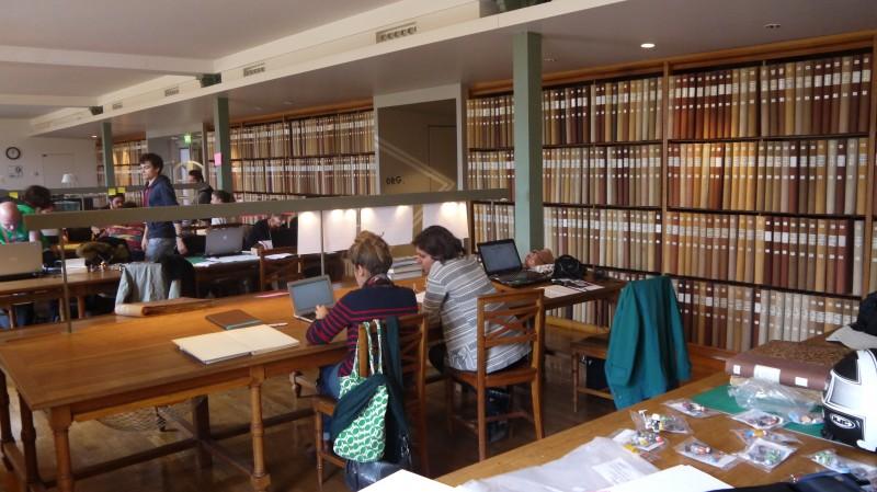 La bibliothèque du musée, durant l'édition Museomix 2013