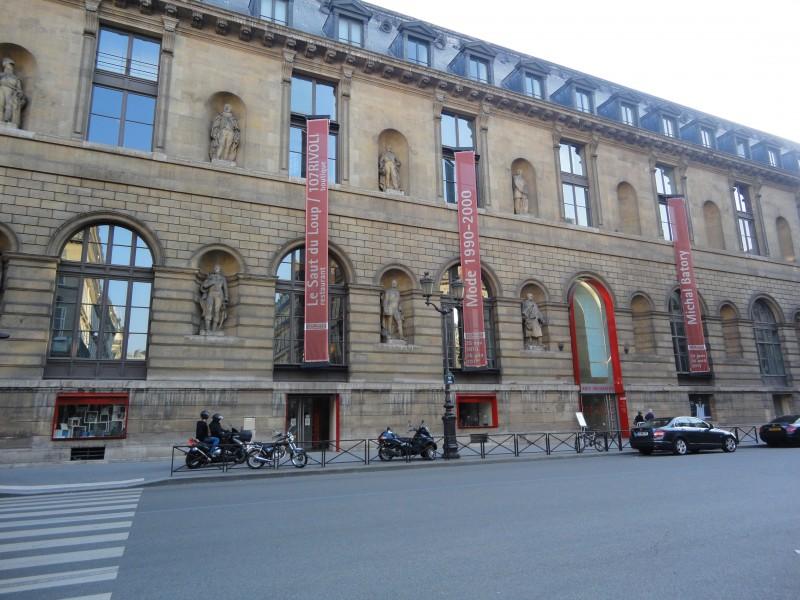 Musée des Arts Décoratifs, entrée principale rue de Rivoli.