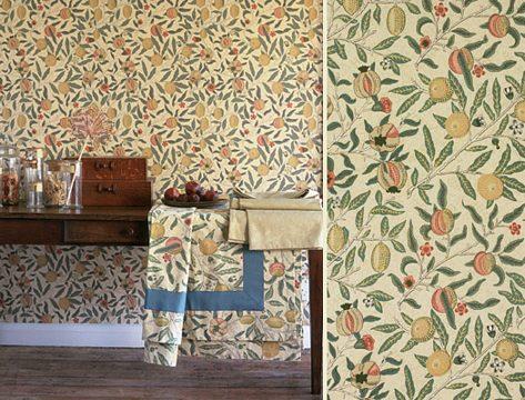 William Morris, création pour papier peint : Fruit