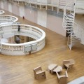 Musées des Arts décoratifs, dernier étage au-dessus de la nef centrale
