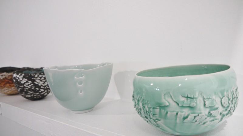 Céramiques, exposition Autour du bol à thé à la Galerie Atelier 28