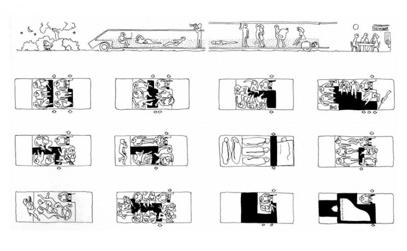 Mario Bellini, le concept Kar-A-Sutra présenté à l'exposition. Le 1er monospace habitable ?