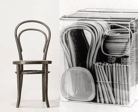 Chaise Thonet n°14, expédiable en kit. Bien avant IKEA...