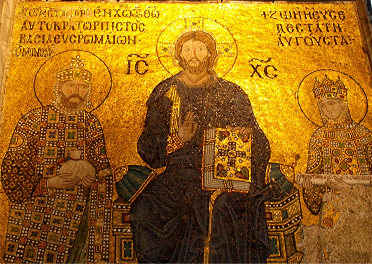 Mosaïque Byzantine dans l'Eglise Sainte-Sophie, Istanbul