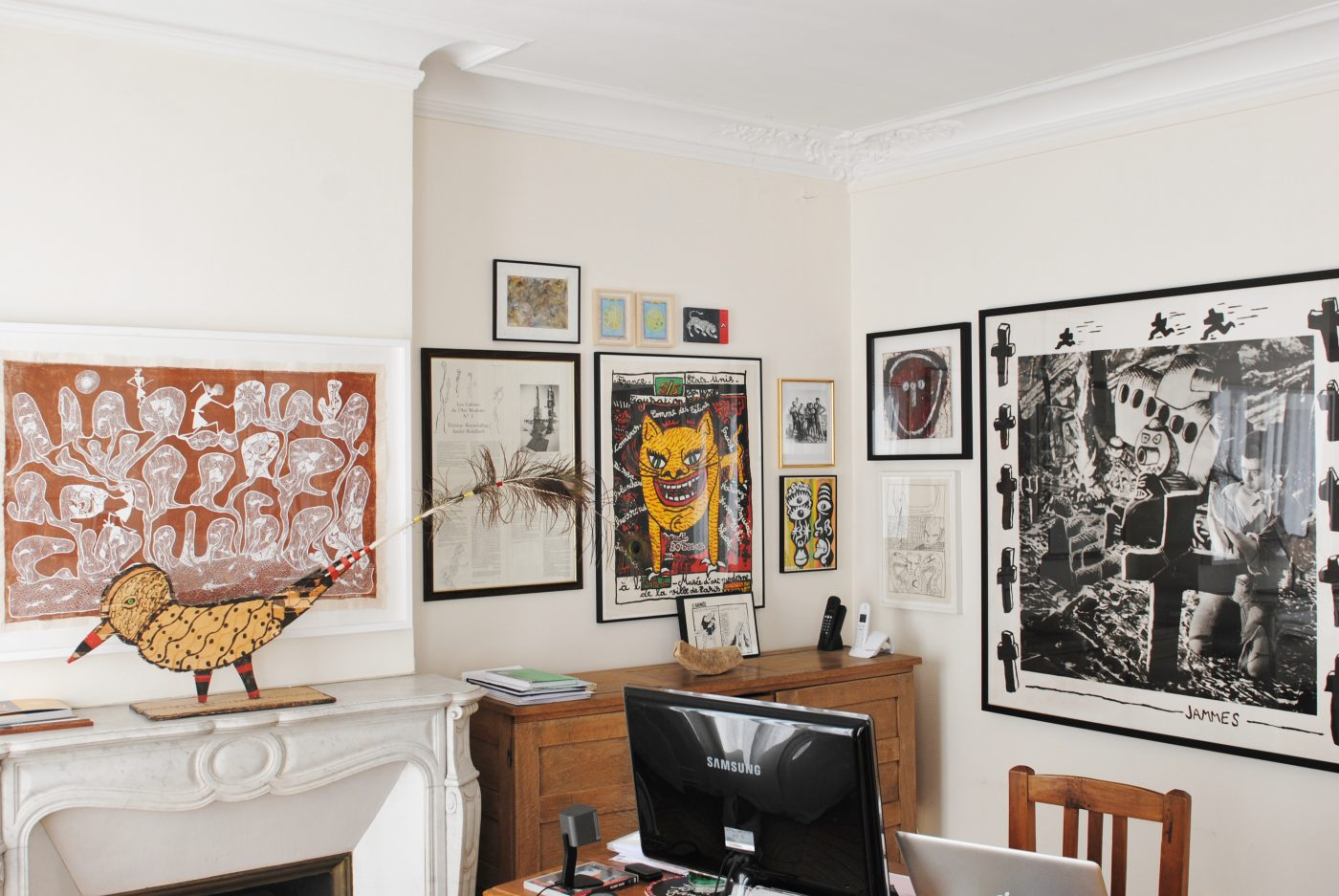 Chez Hervé Perdriolle, une pièce dédiée à la Figuration Libre