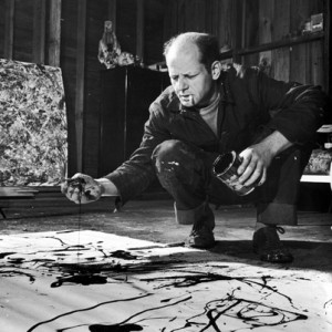 Jackson Pollock en action