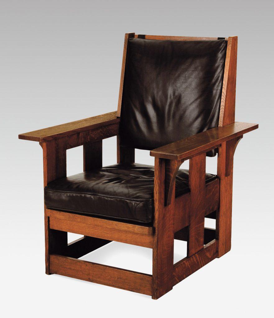 Charles Limbert, fauteuil réalisé vers 1905 par Limbert Furniture Co. Mouvement Arts & Crafts