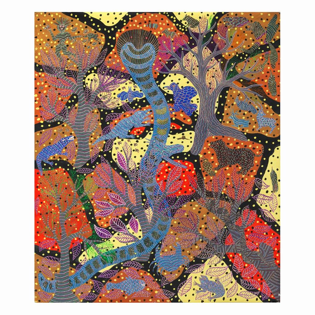 Jangarh singh shyam 1989 collection Fondation Cartier 182x122cm