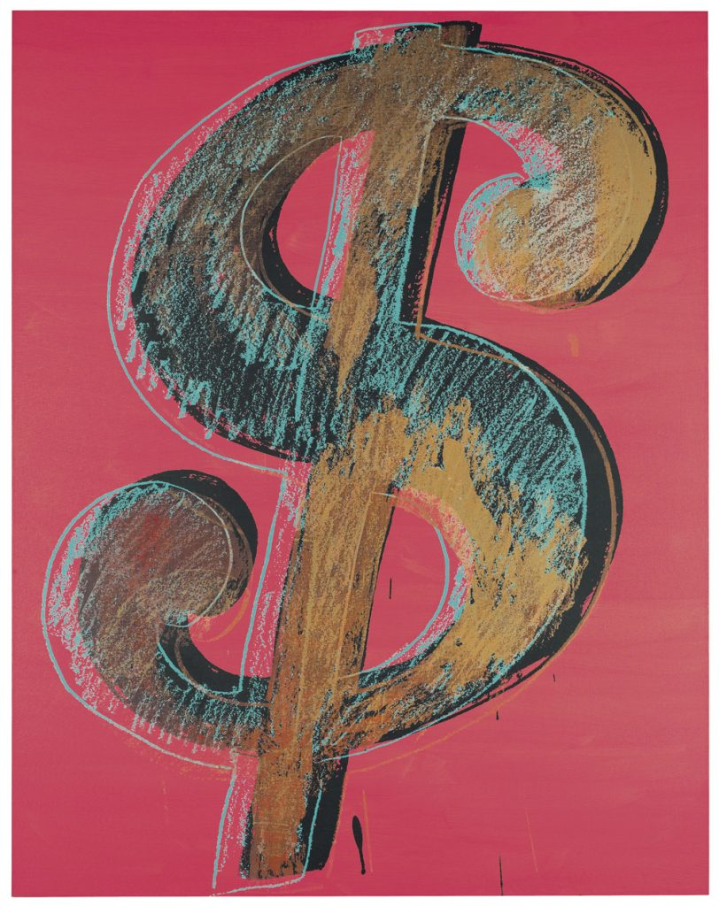Andy Warhol, Dollar Sign series, 1981