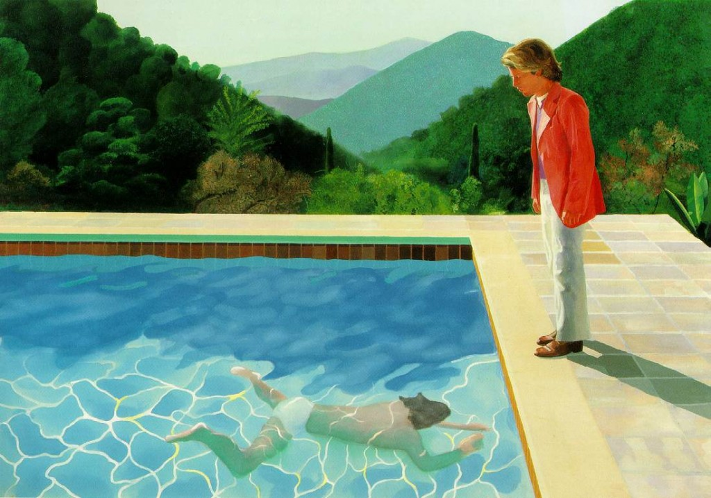 David Hockney, Pool with Two figures, 1971