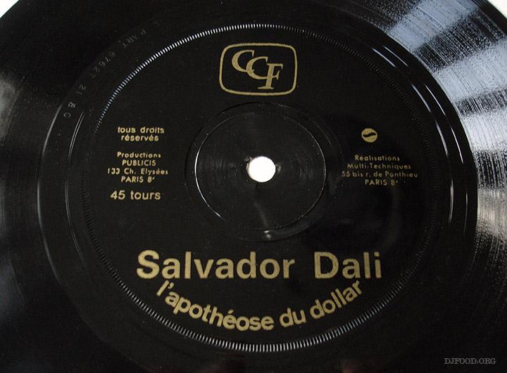 Salavador Dalí, disque L'apothéose du Dollar, campagne pour le CCF, réalisation Publicis, 1971