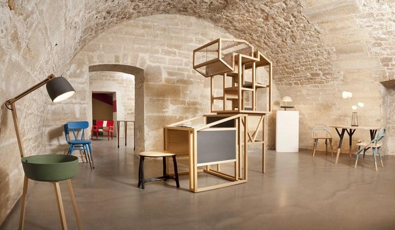 Galerie Gosserez, vue du sous-sol, les pièces rayonnent dans cette très belle cave voutée