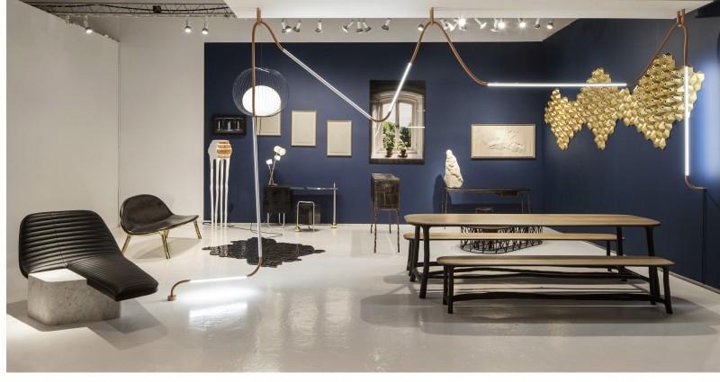 Espace de la galerie Gosserez au dernier Salon Collective Design, New York