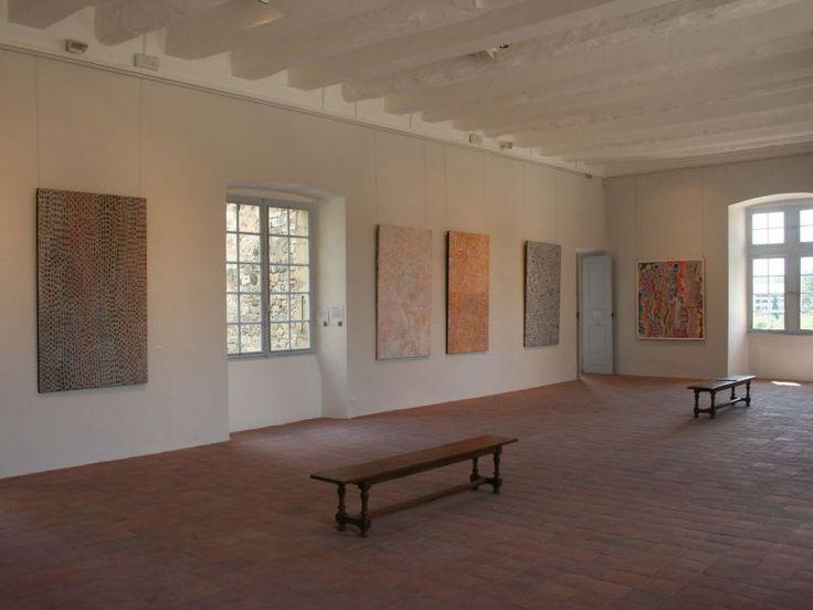 Château de Vogüé, L'art Aborigène, vue de l'exposition, 2010