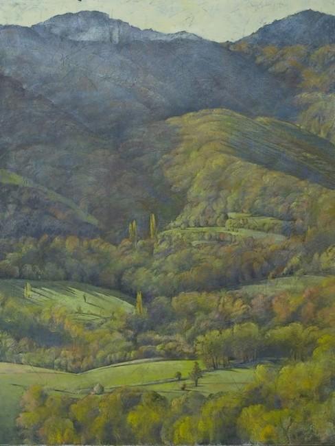 Noémi Adda, exposition Paysages au Château de Vogüé, 2014