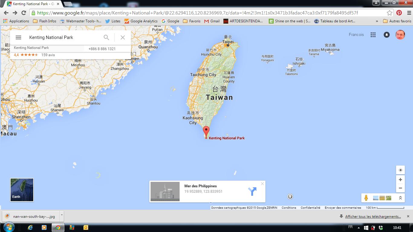 Landcape of Energy se passe sur la côte sud-est de Taiwan