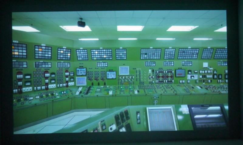 Yuan Goang-Ming, Landscape of energy - stillness, 2014. Plan à l'intérieur de la cxentreale nucléaire de Ma'anshan