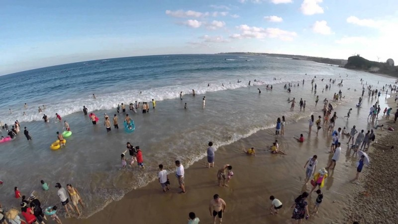 La plage de South Bay, sur la côte du sud(-est de Taiwan