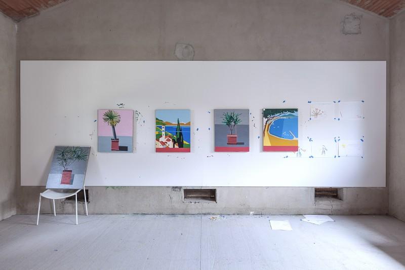 009 Derouillon-GuyYanai-vue datelier, Villa Lena, Toscane, Italie 2014