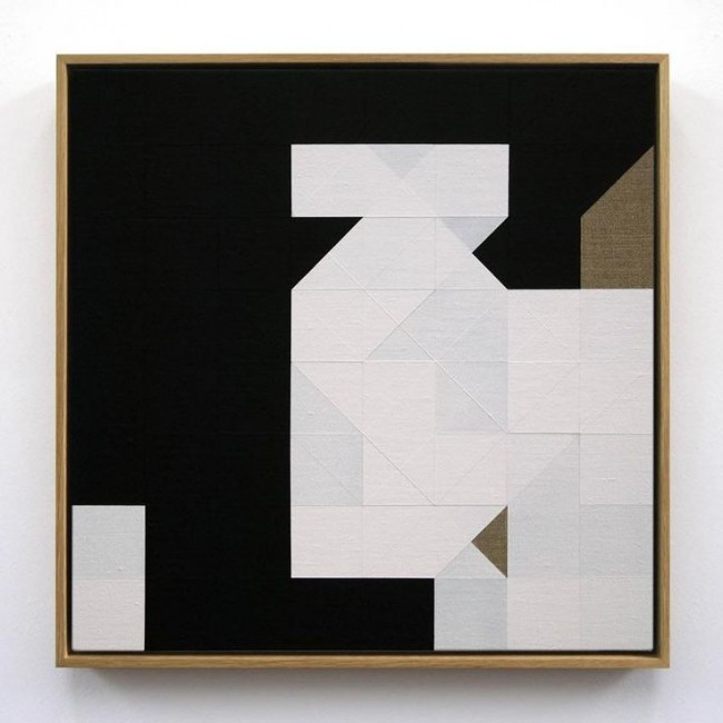 Tom Hackney, Chess Painting No. 25, 2012, ( Reub vs. Duchamp, Paris, 1924 )