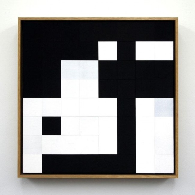 Tom Hackney, Chess Painting No. 27, 2013, ( Gudmundsson vs. Duchamp, Hamburg, 1930 )