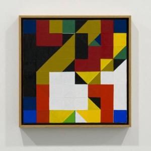 Tom Hackney, Chess Painting No. 30, ( Duchamp vs. Folkmann, correspondence game, 1933 )