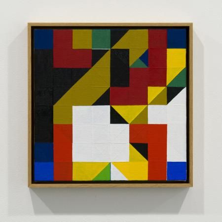 Tom Hackney, Chess Painting No. 30, ( Duchamp vs. Folkmann, correspondence game, 1933 )