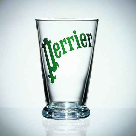 Verre Perrier, design Martin Szekely, 1996
