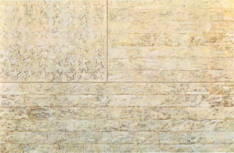 Jasper Johns, Drapeau Blanc, 1955