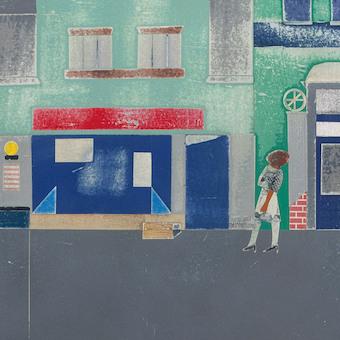 Robert Bearden, The Block, détail d'une scène