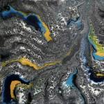 Silvère Jarrosson, Coma (9), acrylique sur toile, 50x50 cm, 2013